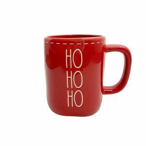 Rae Dunn HO HO HO Coffee Mug Red Christmas 2020